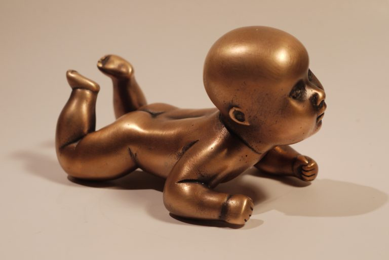 Baby girl by sculptor Olga Shilova
