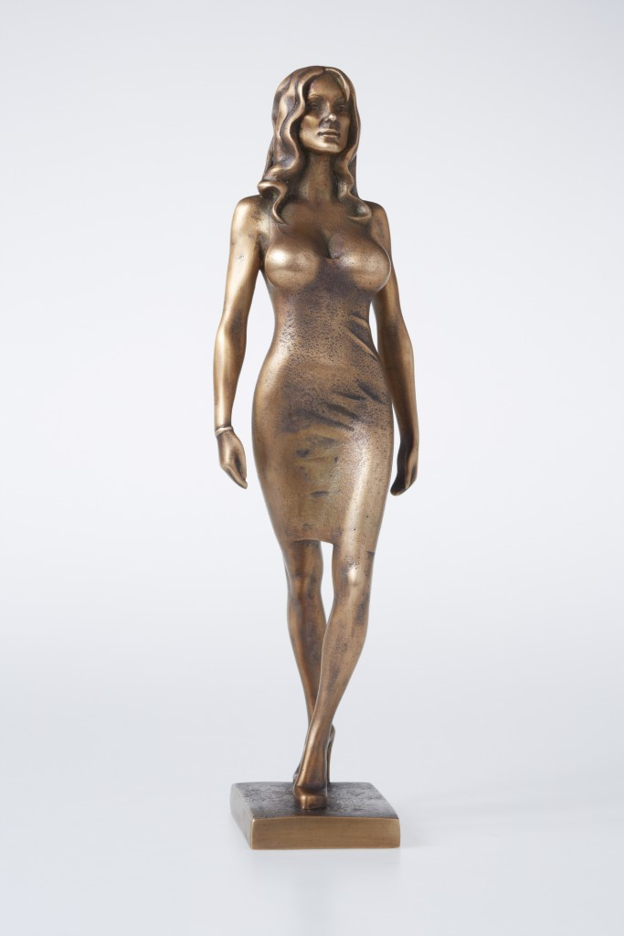 Pamela Anderson, 2012 Bronze. 31x9x9 cm Author's private collection.