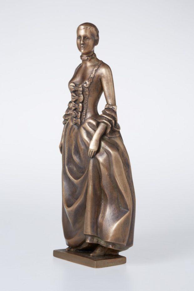 Madame de Pompadour, 2012. Bronza. 31x13x9 cm. Autores īpašums.