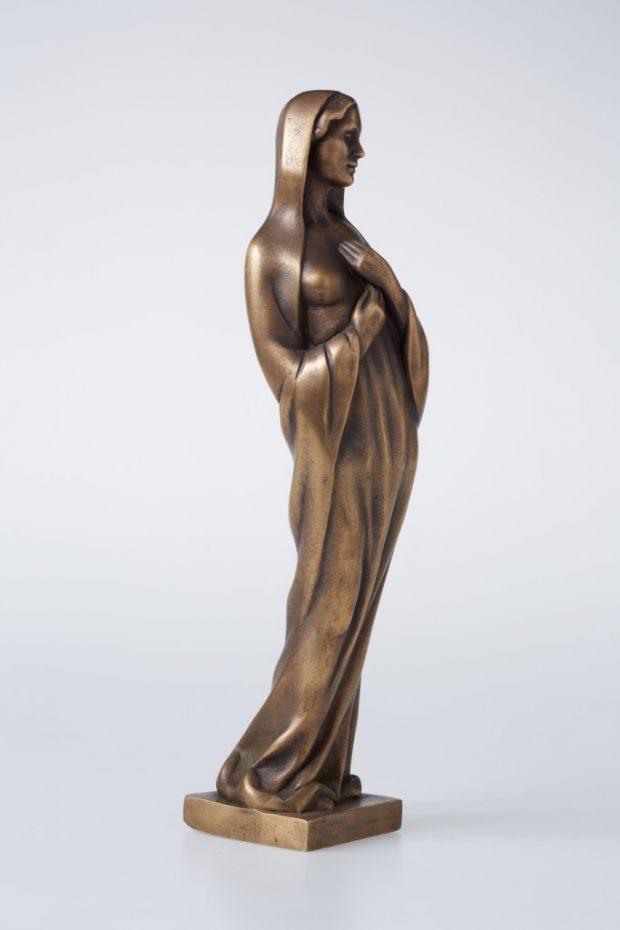 Jaunava Marija, 2012. Bronza. 30x8x8 cm. Autores īpašums.