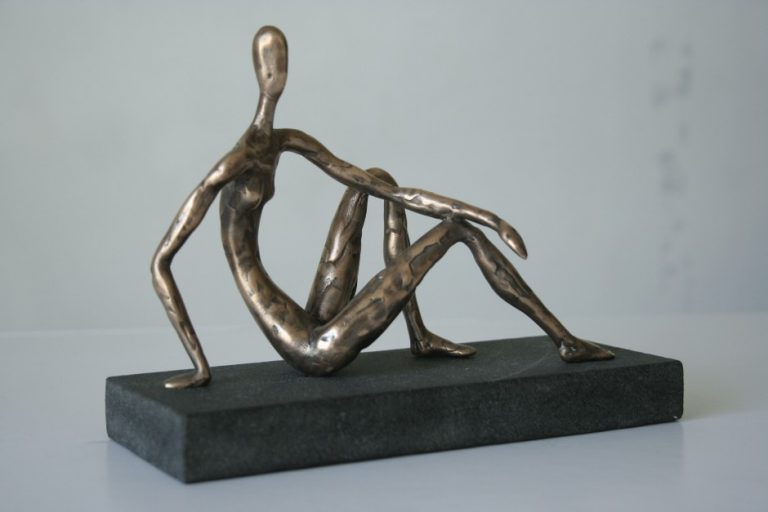 Half-lying III, 2008 Bronze, granite. 18x11x8 cm. Author's private collection.
