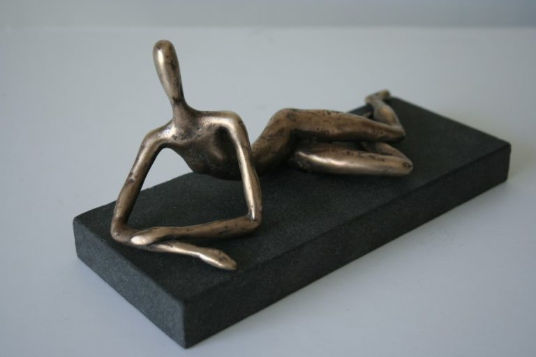 Danaë, 2008 Bronze, granite. 19x10x8 cm. Author's private collection
