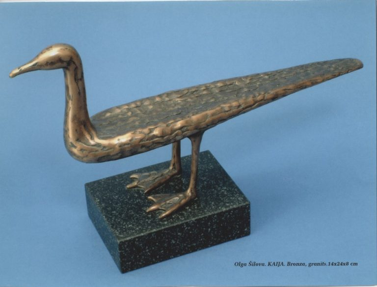 Seagull, 2000. Bronze, granite. 14x24x8 cm. Private collection.