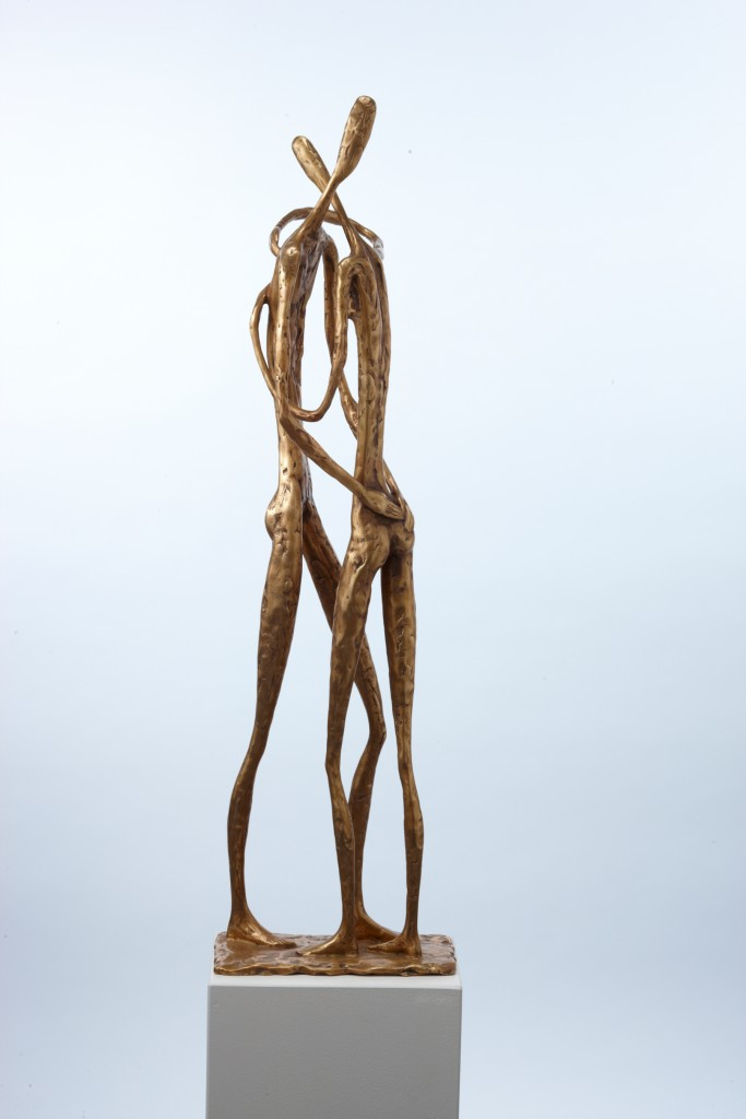 Pieskāriens skulptore Olga Šilova