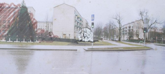 Fountain on the intersection of Talsu, Tārgales and lidotāju streets, Ventspils. 1999