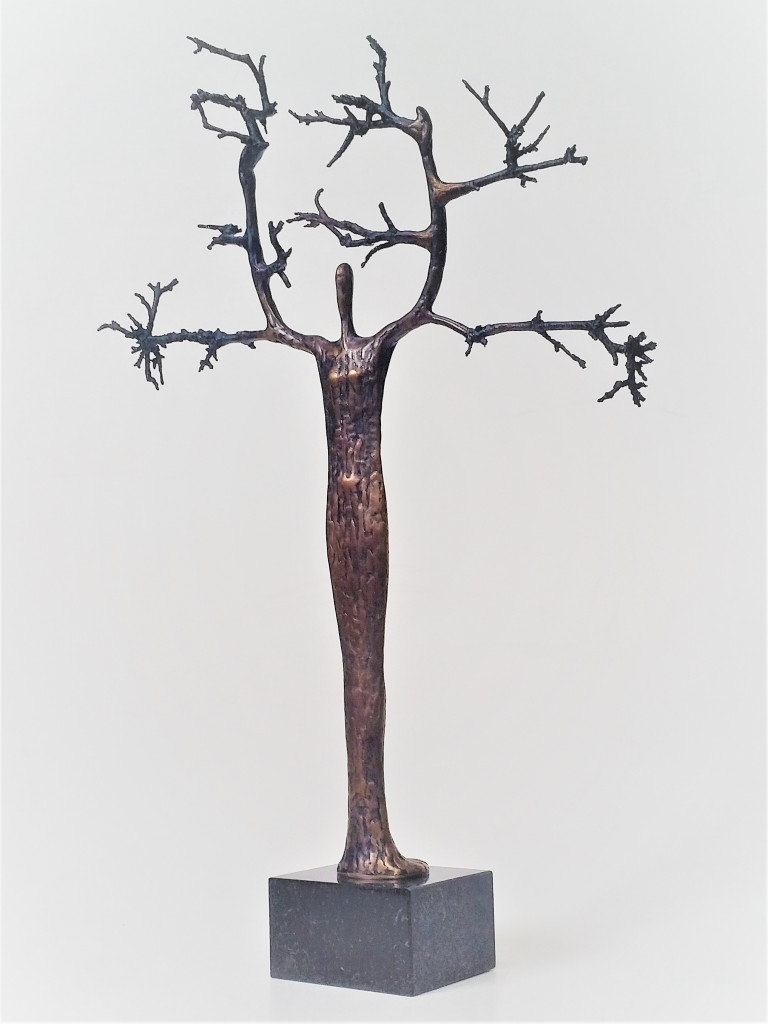 Koks. 2019. bronza, sarkankoks, 48x36x10 cm