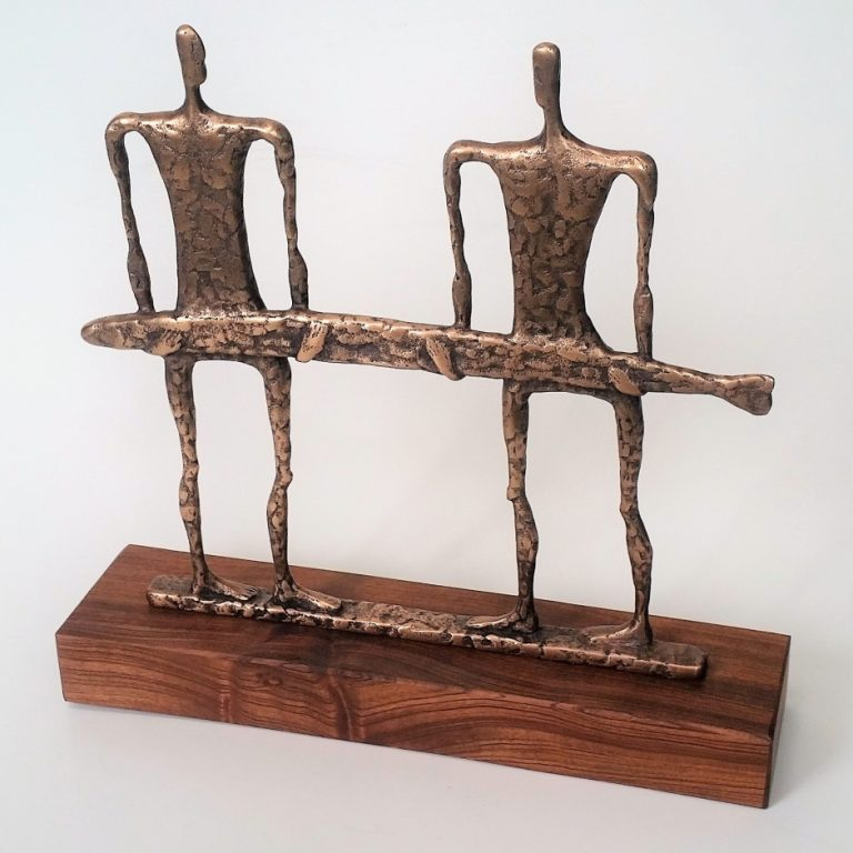 Big Fish. 2019 bronze, mahogany, 39x40x10 cm
