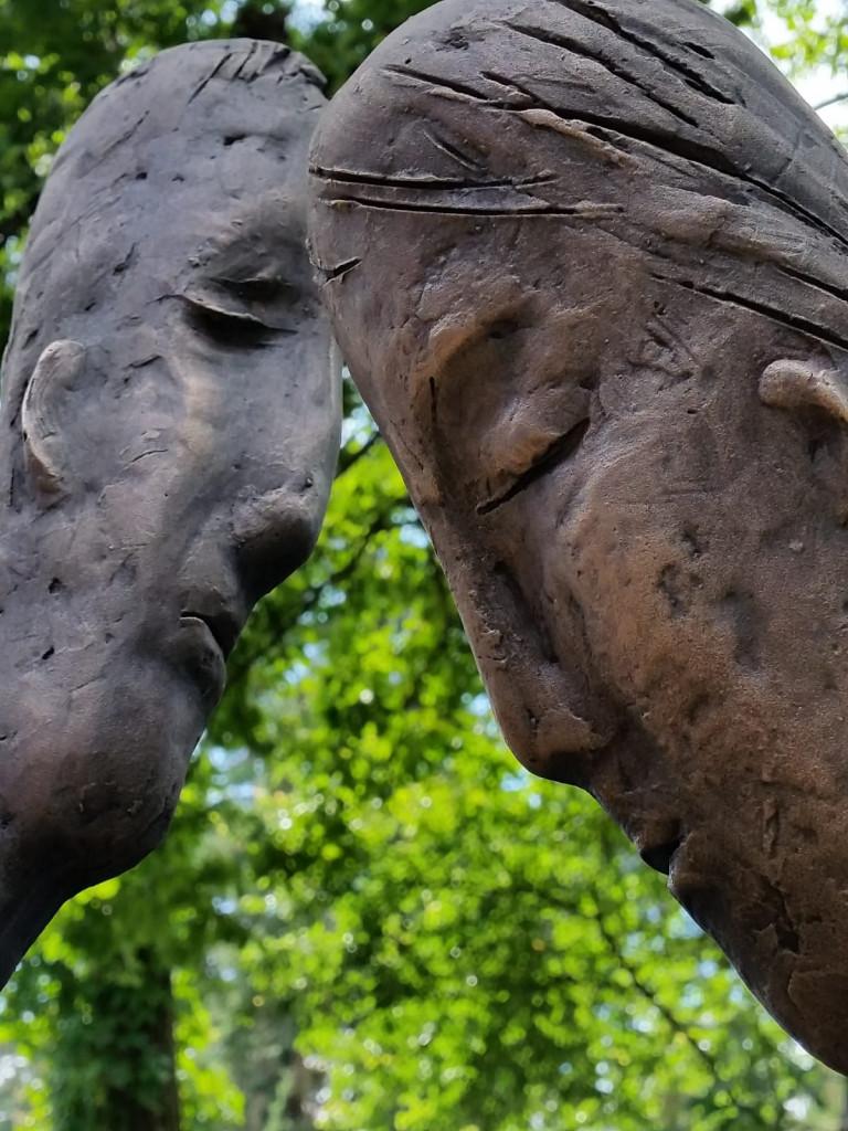 Adam and Eve 2019. Bronze 200 x 70 х 65 сm, Private commission, Jurmala, Latvia