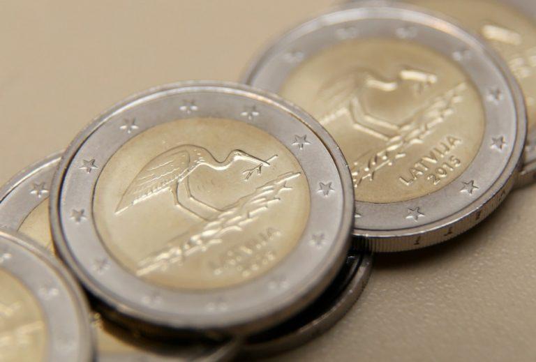 """Latvian 2 euro coin """"Stork"""""""