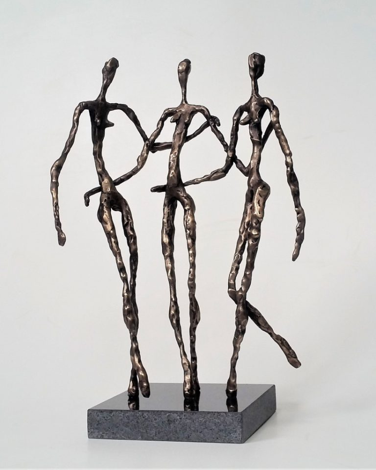 Three graces. 2019 bronze, granite, 38x25x15 cm